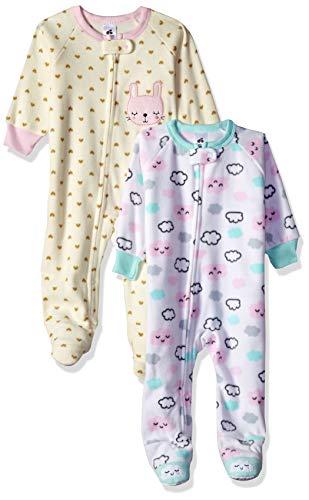 Just Born Baby Girls' 2-Pack Blanket Sleeper, Cloud/Bunny, 12 Months ()