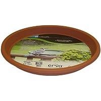 Erva D14CL 14 in. dia. Bird Bath Plastic Dish; Terra Cotta
