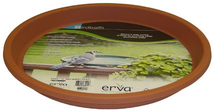 Erva D14CL 14 in. dia. Bird Bath Plastic Dish; Terra Cotta