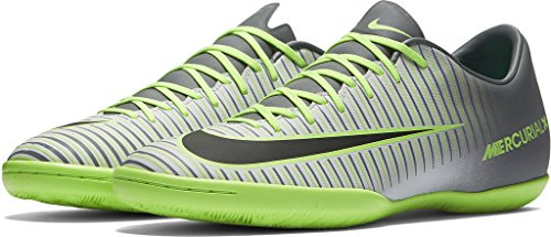 Nike MERCURIALX VICTORY VI IC mens soccer-shoes 831966-003_9.5 - PURE PLATINUM/BLACK-GHOST GREEN (Shoes Nike For Football)