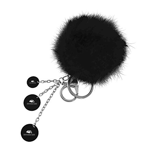 University of Southern Mississippi, Color Puff Key Chain, Black