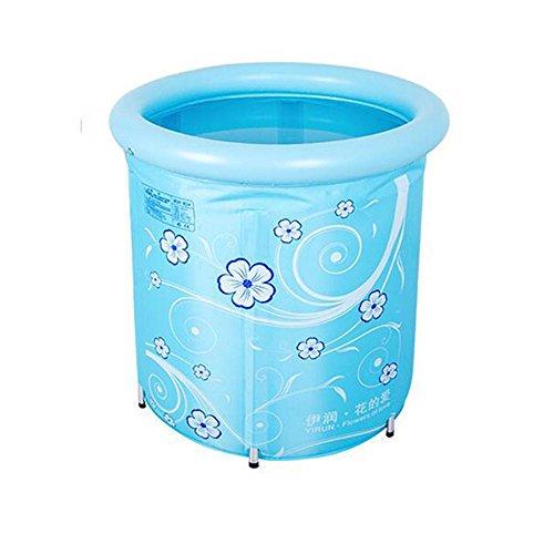 TOYM US Can Be Lifted Thickening Nylon Cloth Adult Bath Bucket Folding Tub ( Color : Blue ) by Folding Bathtub