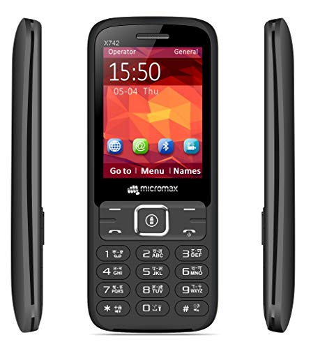 Micromax X742 Cell Phone with Power Saving Mode (Black)
