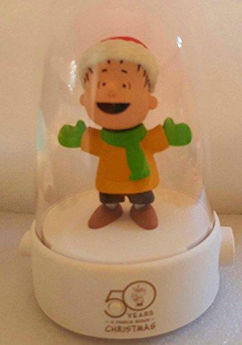 Hallmark Linuus Brown Peanuts Animated Happy Tappers 50 Year Anniversary Christmas Globe Music & Dance Charlie Brown Christmas Dance