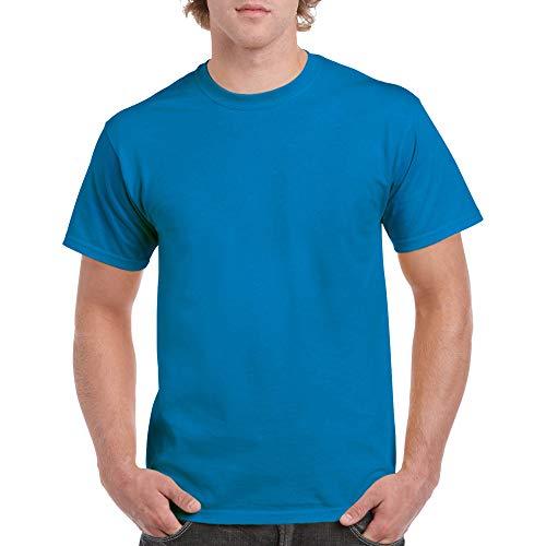Gildan Men's Heavy Cotton Adult T-Shirt, 2-Pack, Sapphire, Small