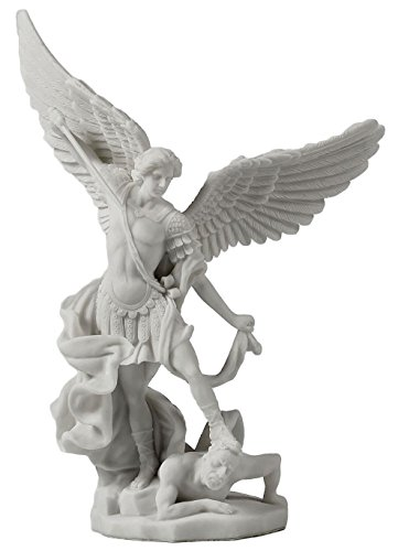 Saint Michael Archangel Slaying Demon Statue