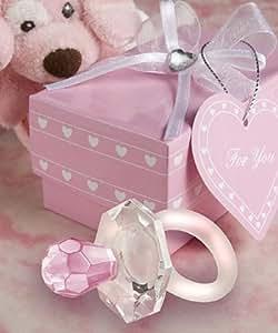 <em>Choice Crystal</em> Pink Pacifier Favors - 40 count