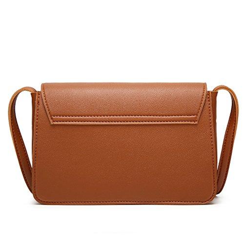 Briefcases Messenger Retro Bags Black yyu 21 Bags Purses Simple Women's Shoulder Brown Bag Daily Handbags 6 15cm Ladies Messenge Girls Bags f7qqEnw5