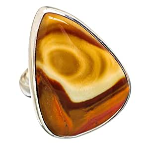 Ana Silver Co Large Imperial Jasper 925 Sterling Silver Ring Size 6.75 RING840800