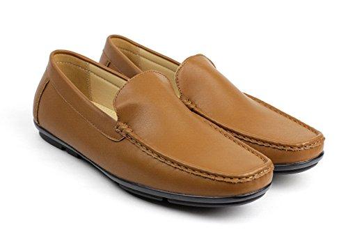 mocassino stile On alla moda MODA DESIGN Marroncino Casual Uomo MOCASSINI Slip Driving DI scarpe 4TwHH7qS