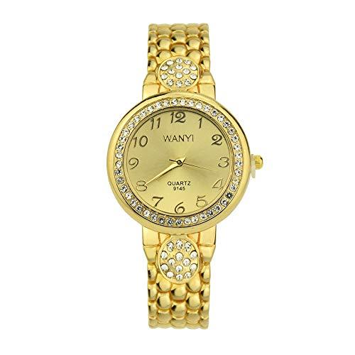 Women Diamond Bracelet Watch Analog Quartz Movement Wrist Watch,Outsta 2019 Fashion Watches Gold