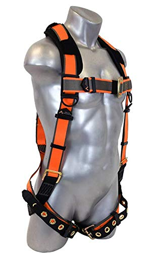 Warthog Full Body Harness with Tongue Buckle Legs & X-Pad (XXXL), OSHA/ANSI Compliant