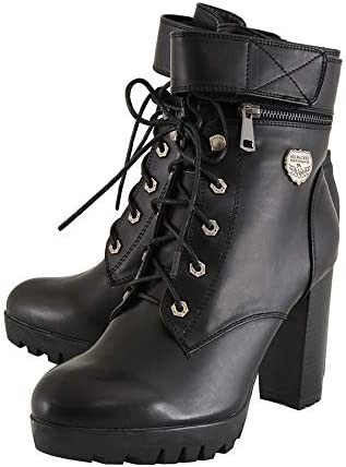 Black, Size 8 Milwaukee Performance Womens Lace To Toe Boots with Double Height Option