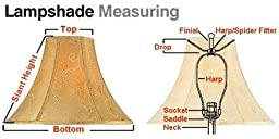 5x8x7 Empire Sand Linen Edison Clip Lampshade by Home Concept - Perfect for small table lamps, desk lamps, and accent lights -Small, Tan