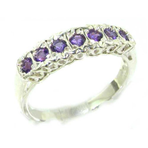 925 Sterling Silver Natural Amethyst Womens Eternity Ring - Sizes 4 to 12 Available by LetsBuySilver
