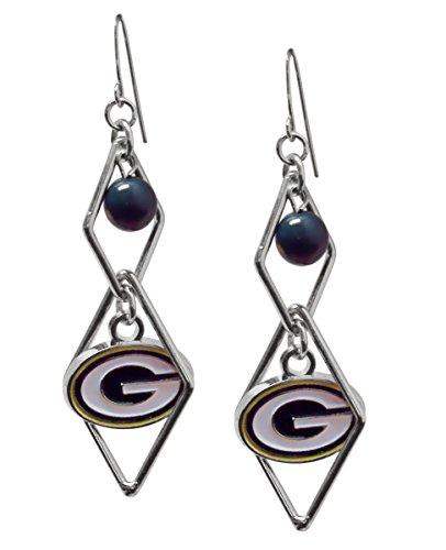 Green Triangle (NFL Green Bay Packers Triangle Logo Dangler Earrings)
