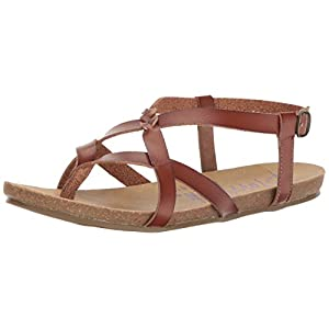 Blowfish Women's Granola Fisherman Sandal, Whiskey Dyecut PU (11)