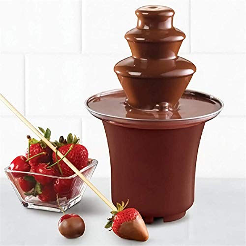 olate Fountain, GIGRIN Small Chocolate Fondue with Stainless Steel Heated Basin for Dessert/Dipping for Family Gatherings ()