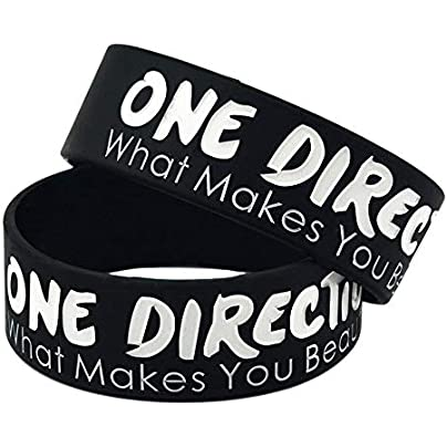 MAlex Silicone Bracelets with Sayings One Direction What You Beautiful Rubber Wristbands for Adults and Kids Motivation Set Pieces Estimated Price £28.99 -