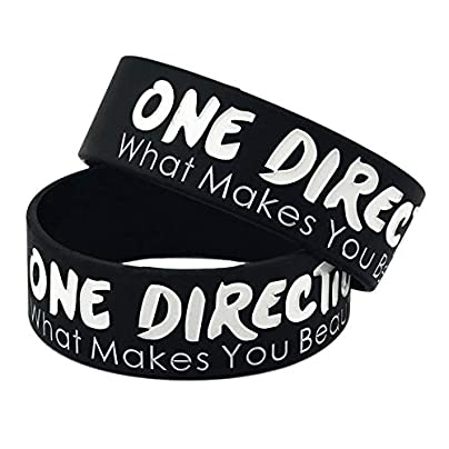 Silicone Bracelets with Sayings One Direction What You Beautiful Rubber Wristbands for Adults and Kids Motivation Set Pieces D Estimated Price £19.74 -