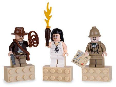 - Lego Indiana Jones Mini Figure Exclusive Magnet 3pc Set Jones, Marion, and Professor Henry