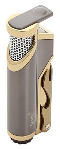 Scorch Torch Donatello Single Jet Flame Butane Torch Cigarette Cigar Lighter w/Bottle Opener (Gunmetal) -
