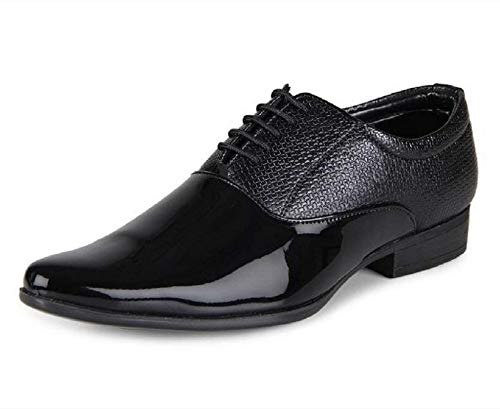 Buy Bintpul Black Tan Patent Shiny Lace Up Formal Shoes Shoes For Official Men Formal Shoes For Men At Amazon In