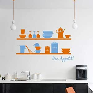 Wall Decals for Kitchen, Home Decor, Waterproof Wall Stickers