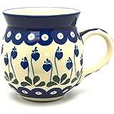 Polish Pottery Mug - 11 oz. Bubble - Bleeding Heart