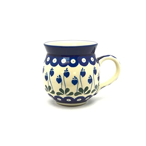 Polish Pottery Mug–15Oz. Bubble–Bleeding Heart by Polish Pottery Gallery
