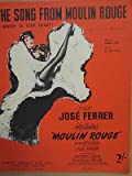 song sheet THE SONG FROM MOULIN ROUGE Jose Ferrer 1953