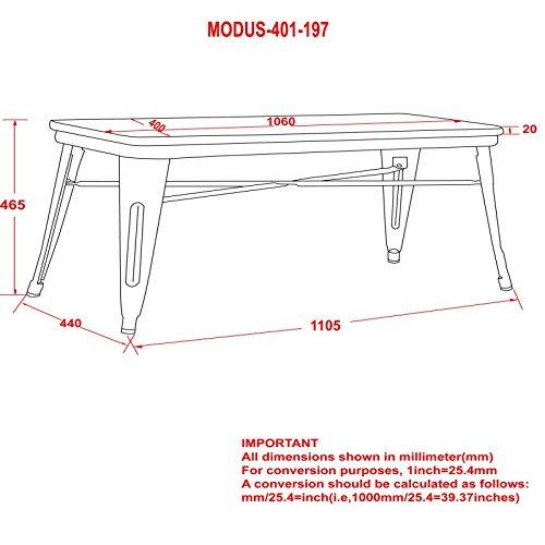 MyChicHome Raleigh, Rustic Industrial, Metal Body, Wooden Seat, Bench (Entryway, Indoor, Outdoor, Patio, Garden) in Gunmetal by MyChicHome (Image #3)