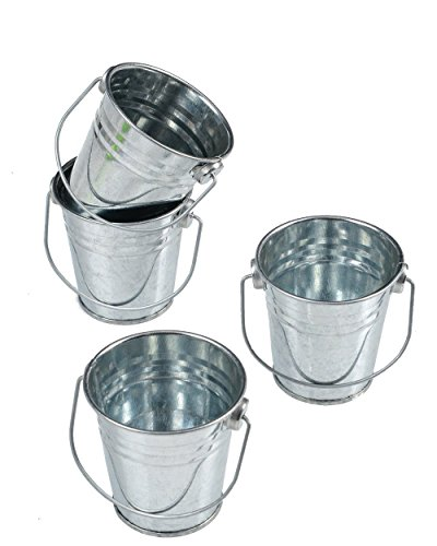 Goldenvalueable Mini Metal Gift Buckets Kids Party Gift, Pack of 12