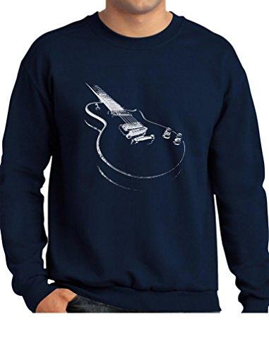 (TeeStars - Gift for Guitarist - Cool Musician Electric Guitar Printed Sweatshirt Small Navy)