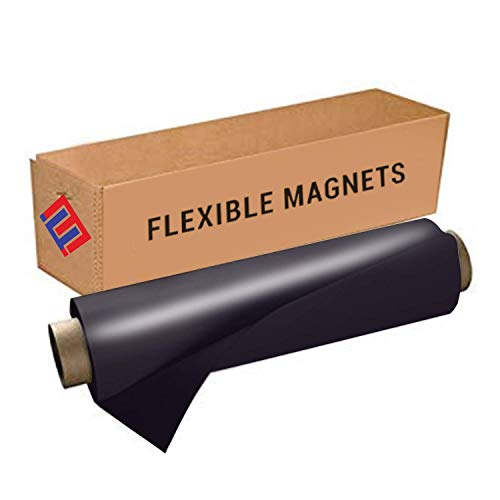 Flexible Vinyl Roll of Magnet Sheets - Black, Super Strong & Ideal for Crafts - Commercial Inkjet Printable (2 ft x 3 ft)