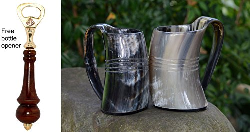 VIKING DRINKING HORN Handcrafted Goblet product image