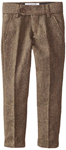 Isaac Mizrahi Little Boy's Slim-Fit Wool Tweed Pants, Brown, 2 Wool Tweed Pants