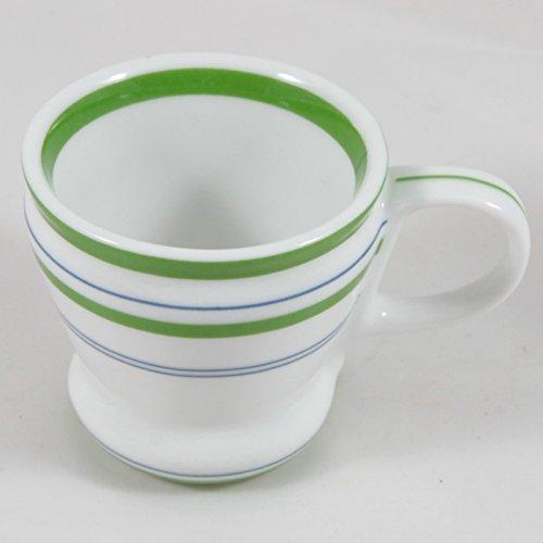(Starbucks 2007 White Green and Blue Stripes Espresso Cup, 3 oz.)