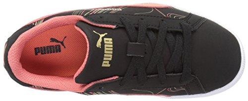 Puma Smash Fun Buck Marmer Kids Sneaker Puma Zwart / Porseleinen Roos