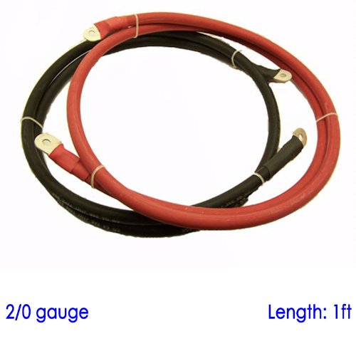 battery-cable-with-3-8-and-5-16-lugs-for-power-inverter-converter-solar-12-volt-bank-1ft-2-0-awg-sgx