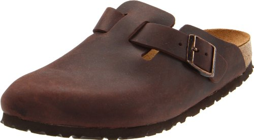 Birkenstock Unisex Boston Clog,Habana Oiled Leather,44 M EU
