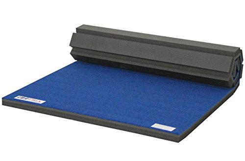 IncStores Deluxe Carpet Top Cheer Mats 5ft x 10ft x 1-3/8in Perfect for Cheerleading, Gymnastics, Exercise & Practice Pads (Blue)
