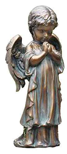 Napco Bronze Spring Praying Angel Statue, 12.5 , As Shown