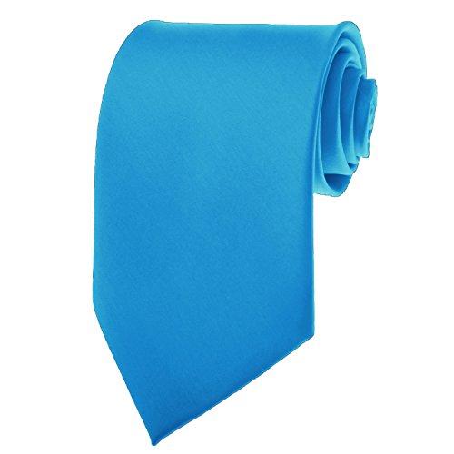 Peacock Blue Necktie SOLID Mens Neck Tie Satin by K. Alexander