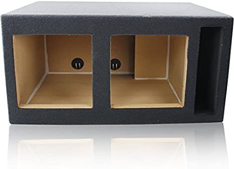 4.0 Cu 4.0 ft^3 @ 32Hz Ported//Vented MDF Sub Woofer Enclosure Box for Car Subwoofer Dual 10 Round Ft s Made in U.S.A.   Premium MDF Construction