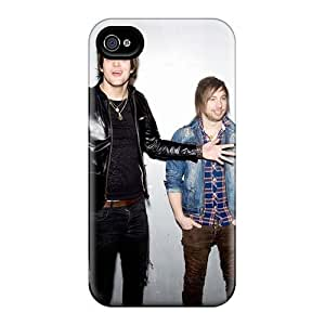 Shock-Absorbing Hard Phone Case For Iphone 4/4s (ruM8956Esni) Provide Private Custom High-definition Boys Like Girls Band Pattern