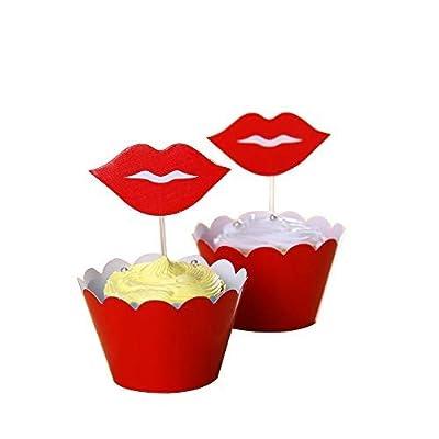 20pcs Star Cake Topper Cupcake Picks Dessert Muffin Decoration