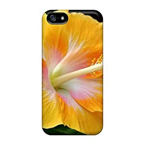 High Quality MeSusges Yellow Hibiscus Skin Case Cover Specially Designed For Iphone - 5/5s by mcsharks
