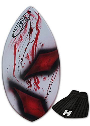 Skimboard Package for Beginners – Red – 36 Fiberglass Wave Zone Squirt Plus Board Bag and or Traction Pad – for Riders up to 90 lbs