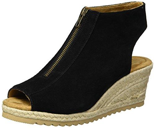 Skechers Cali Women's Monarchs-Touche Wedge Sandal,black,8 M